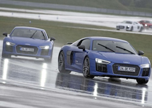 Audi R8 on a handling course