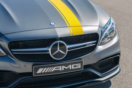 Special Model Mercedes-AMG C 63 Coupé Edition 1, designo Magno Selenite Grey with yellow film coating
