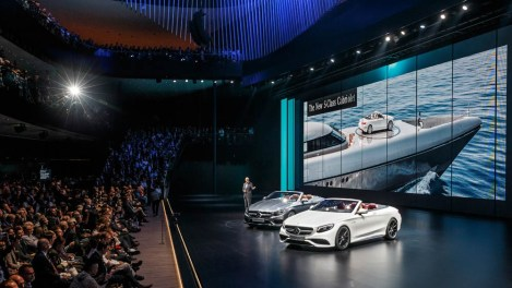 "Dieter Zetsche, Chairman of the Board of Management of Daimler AG and Head of Mercedes-Benz Cars, presents the Mercedes-Benz ""Concept IAA"" (Intelligent Aerodynamic Automobile)"