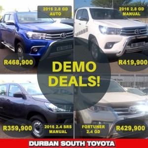 Toyota Hilux & Fortuner Demo Deals