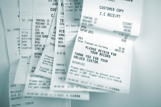 receipts and finances