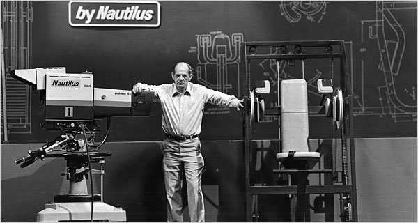 In this picture you can see Arhur Jones with his Nautilus Machine gym equipment.