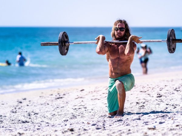 CrossFit can be done everywhere, even on the beach
