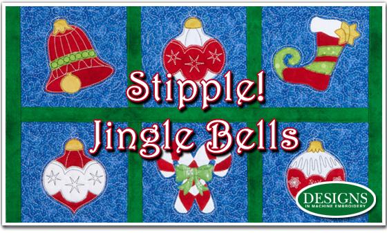 Eileen Roche Tutorial on Stipple Jingle Bells