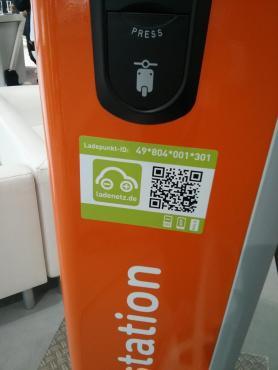 QR Code zum identifizieren der Ladestation in der ladenetz.de App.
