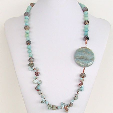 Larimar Beads Necklace