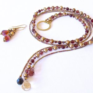 Handcrafted Garnet Necklace Set