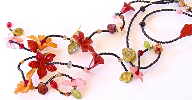 Long Flower Necklace