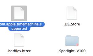 Finderでの隠しファイル