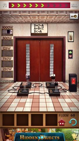 脱出ゲーム 100フロアー付属タワー 攻略 3251