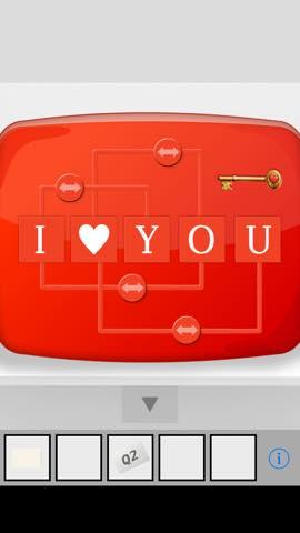 Th 脱出ゲーム I LOVE YOU  攻略と解き方 ネタバレ注意  2166