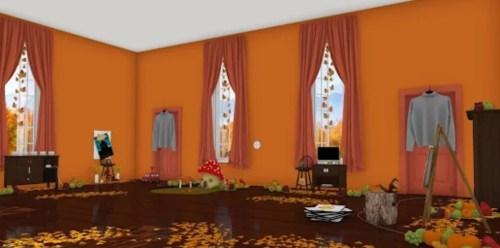 脱出ゲーム Autumn 紅葉とキノコとリスの家 攻略と答え1