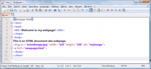 Notepad++ Normal, clean readable HTML code