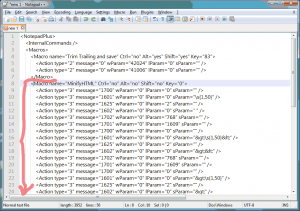 Notepad++ shortcuts.xml Add new macro