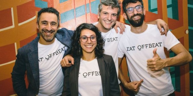 Group photo of the staff members of Eat Offbeat.