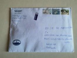 carta recebida dos amigos da Finlândia