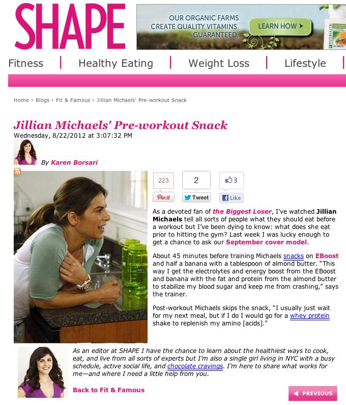 2012 08-22 Shape Magazine