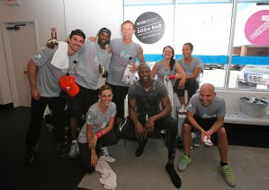 Jillian Michaels hosts the launch of EBOOST for SodaStream at Flywheel Sports in L.A.