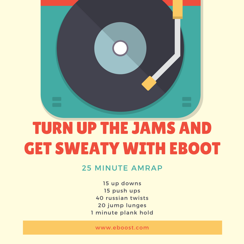 turn up the jams - Turn up the jams and get sweaty with this 25 minute AMRAP