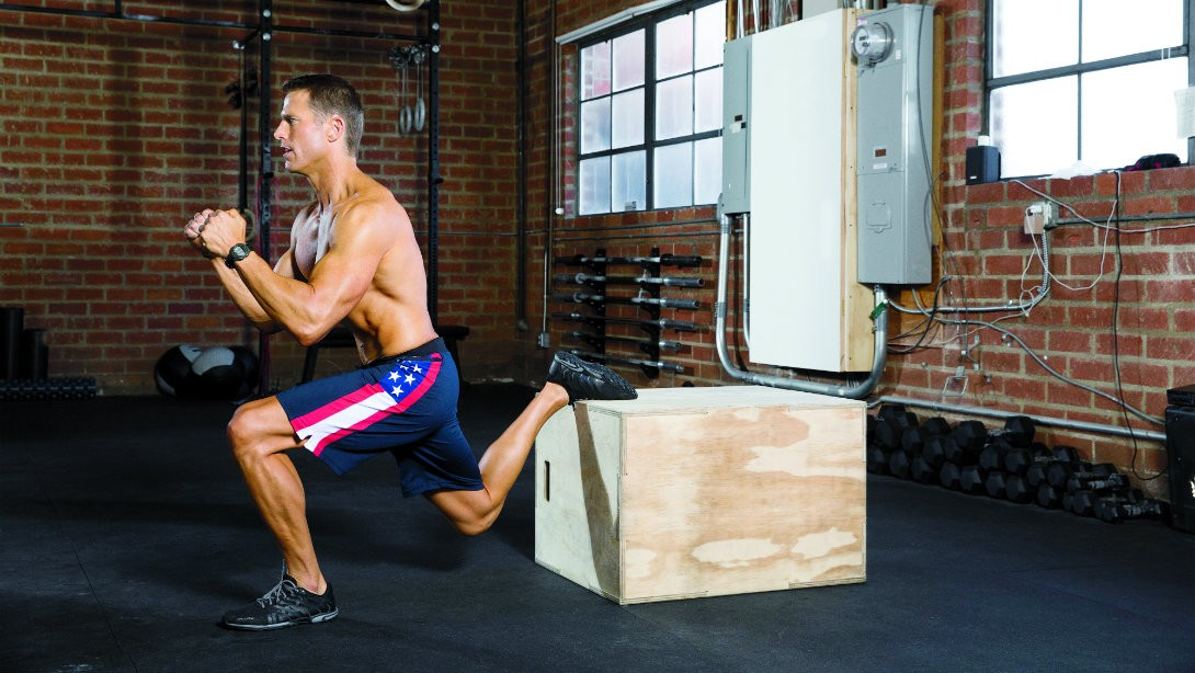Bulgarian split squat promo 0 - Kick Your Week In Gear With This Tough Bodyweight Workout