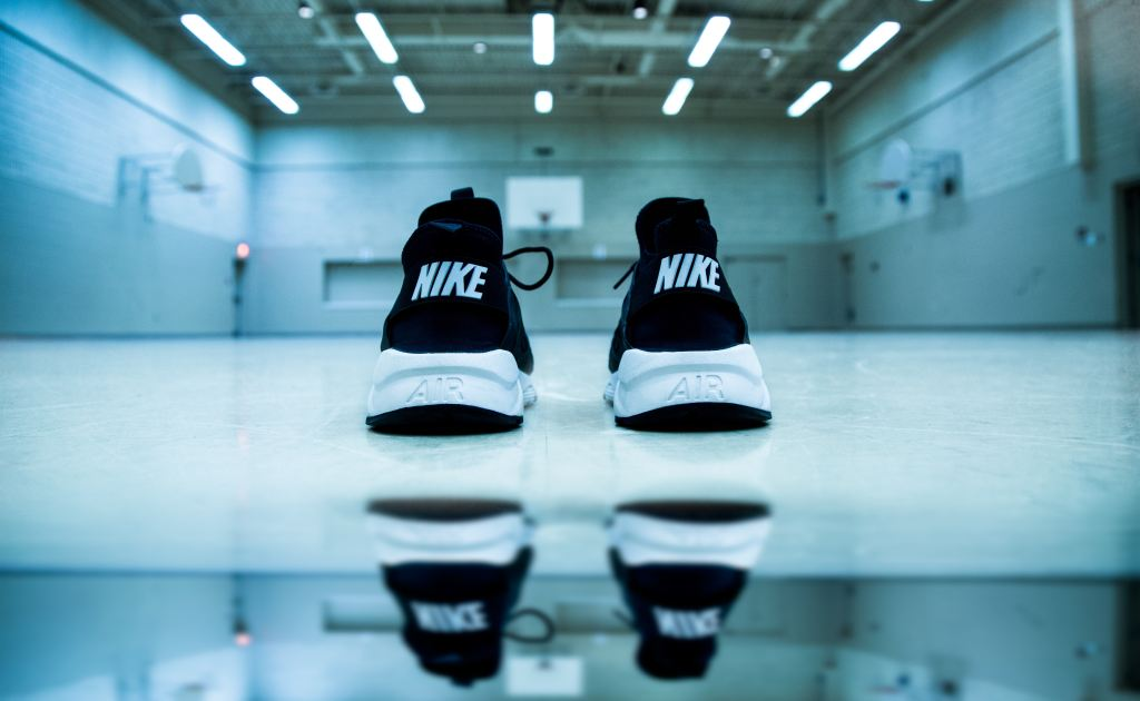 back of nike shoes on the floor