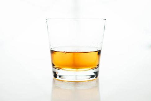 bourbon is a glass