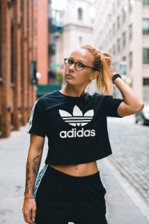 Sabrina Wieser in adidas shirt