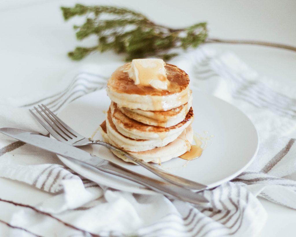 fluffy small pancake stack