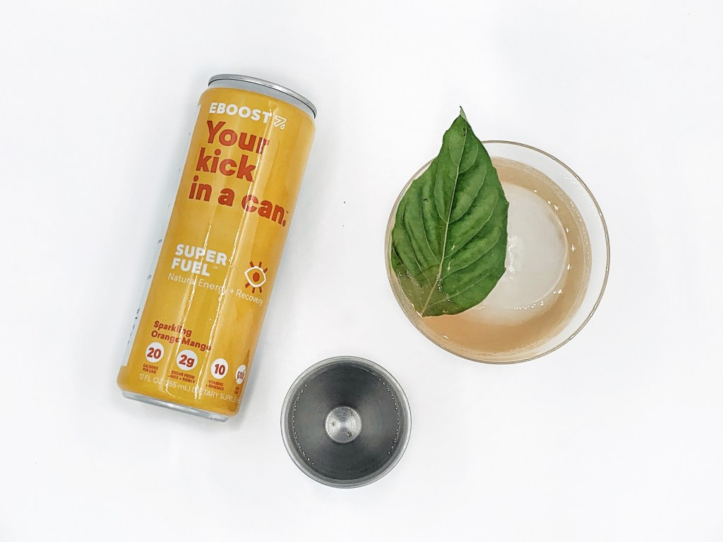 EBOOST SUPER FUEL mango orange rum punch cocktail
