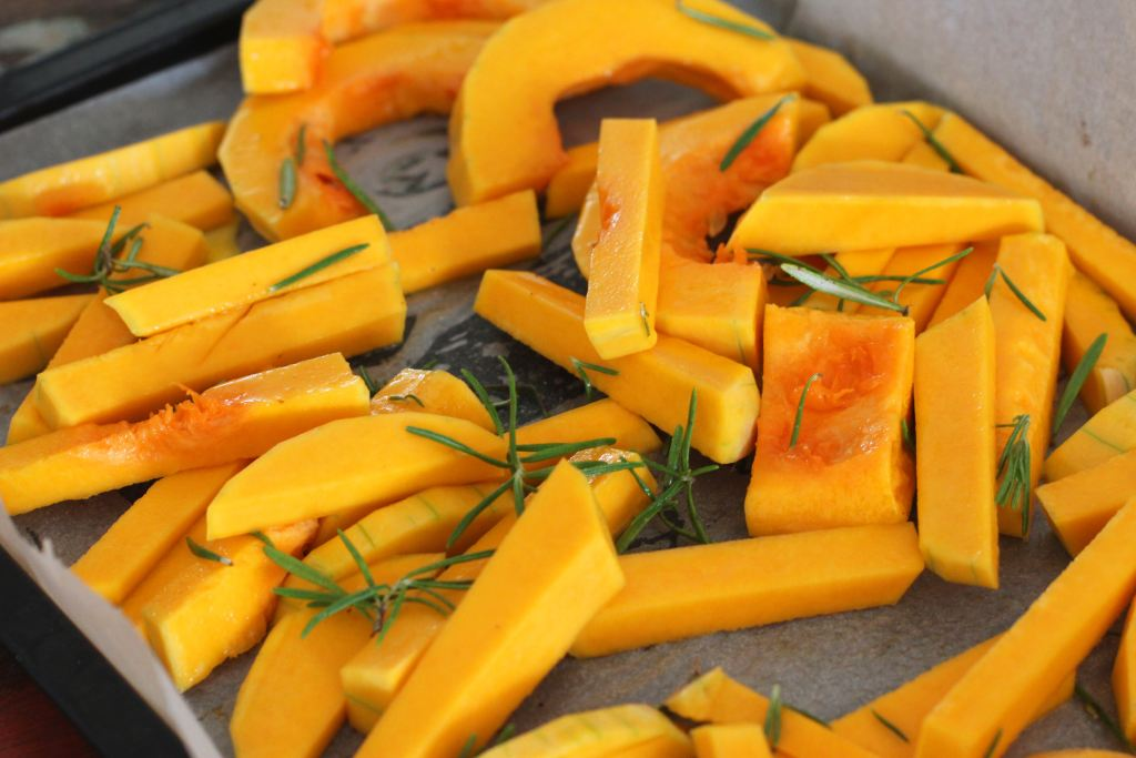 roasted vegetables in oil