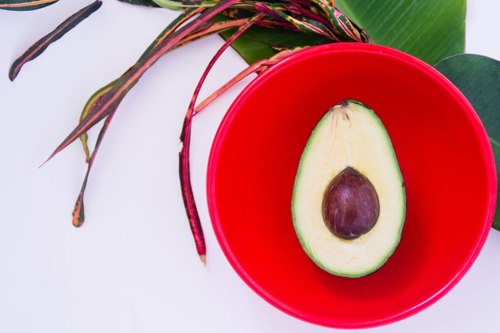 sliced ripe avocado