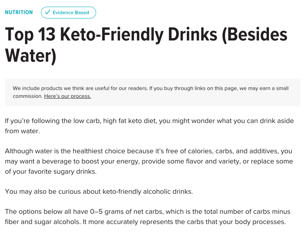 Healthline Keto-Friendly energy Drink
