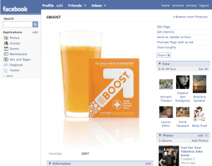 EBOOST Facebook Page
