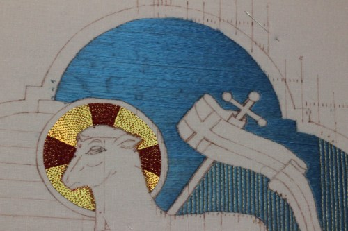 The Last Sky stitches are in on the Agnus Dei