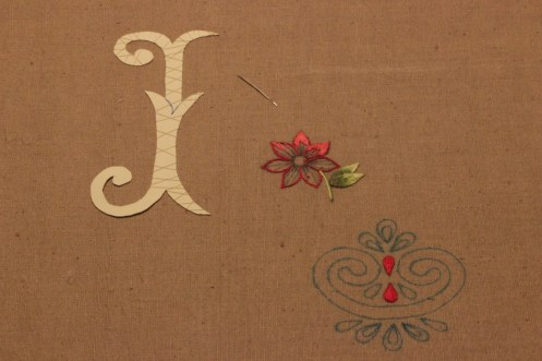 Card padding and String Padding Sampler Goldwork Embroidery for IHS Design