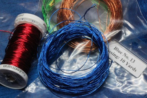 Red, blue, Copper and Green Smooth Passing Thread