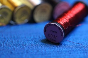 Red Cord Metallic Thread