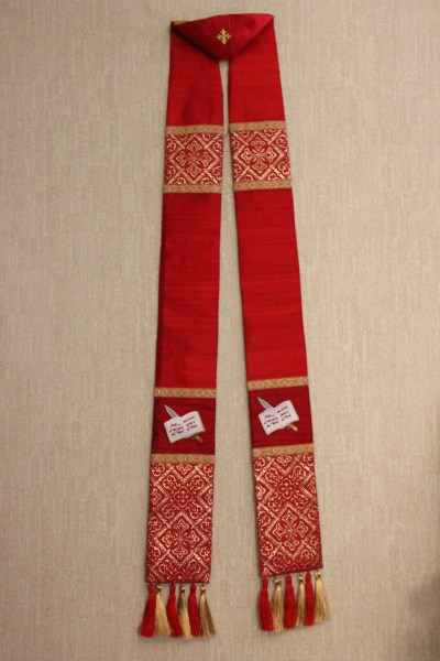 Finished Red Pentecost Stole
