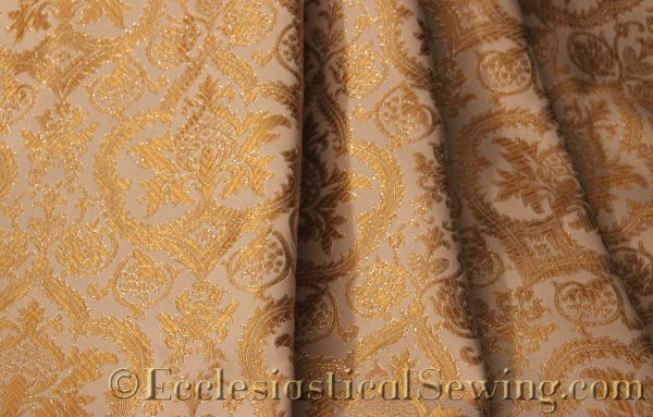 Evesham Liturgical Fabric White Gold