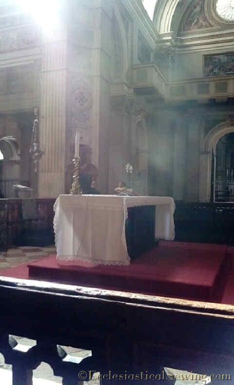 Duomo Mantova Altar Side Close Up