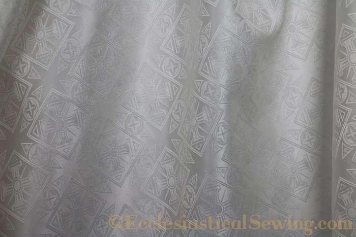 White Church Vestment Brocade Fabric