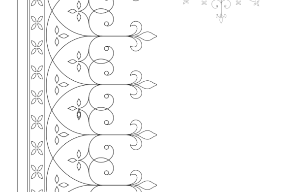 Scroll white work hand embroidery pattern cross embroidery patterns altar linens for Christian church needlework detail