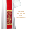 Red Liturgical brocade fabric red clergy stoles pastor stoles clergy stoles deacon stoles church vestments latin mass vestments Pentecost priest stoles silk dupioni stoles Liturgical brocade fabric installing a new pastor or priest installation of clergy christian catholic lutheran pentecost gift
