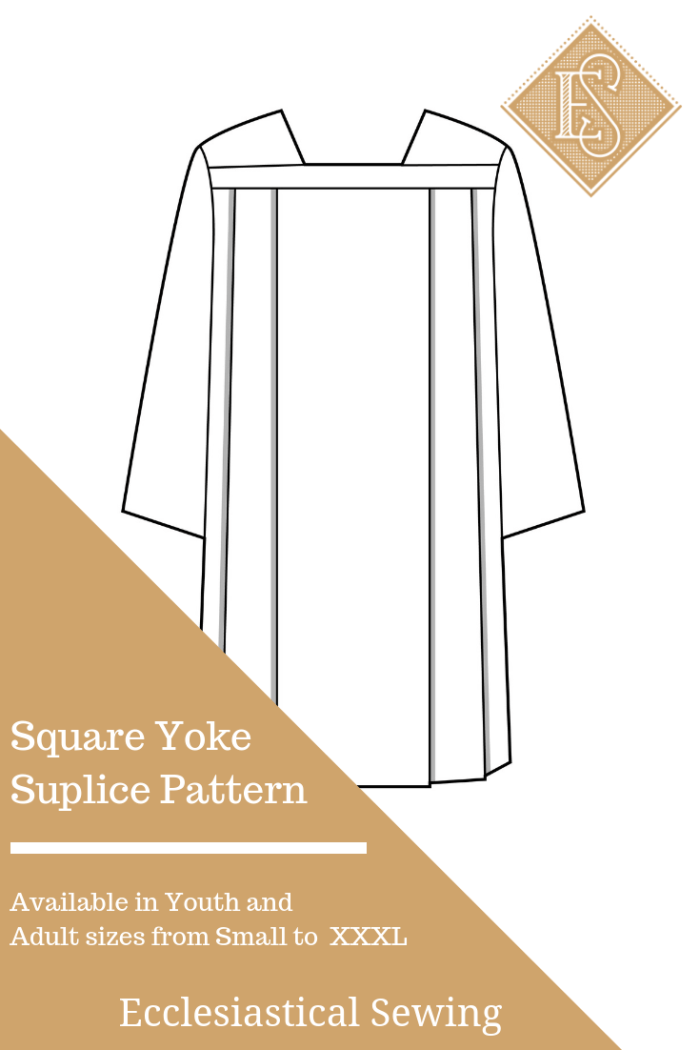 Square Yoke Surplice Church vestment pattern Priest vestment pattern sewing patterns Create your own pasotr robes albs white preaching robes clergy albs