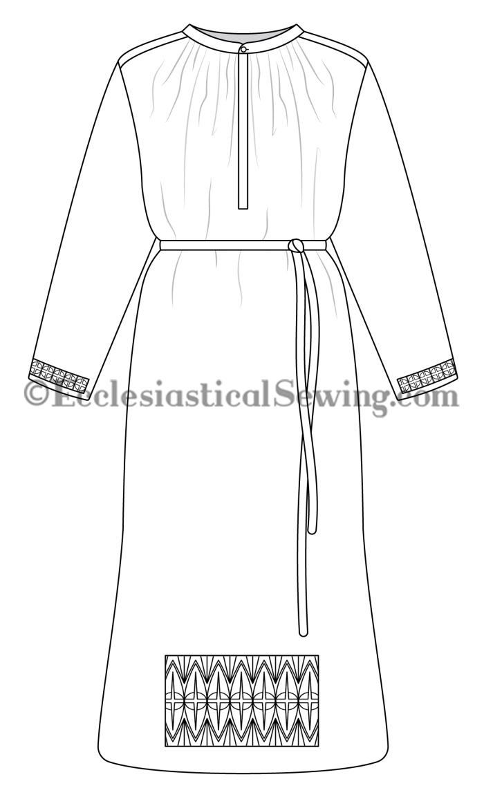 Traditional Priest alb Linen alb vintage alb sewing pattern church vestment pattern Ecclesiastical Sewing