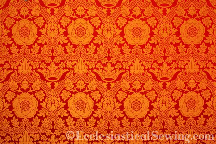 Red Gold St. Margaret Brocade Liturgical Brocade Church vemstment brocade Ecclesiastical Sewing