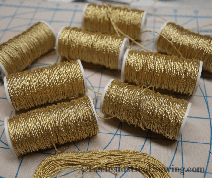 Gilt Gold Twist Goldwork thread Gold wrk embroidery Ecclesiastical Sewing