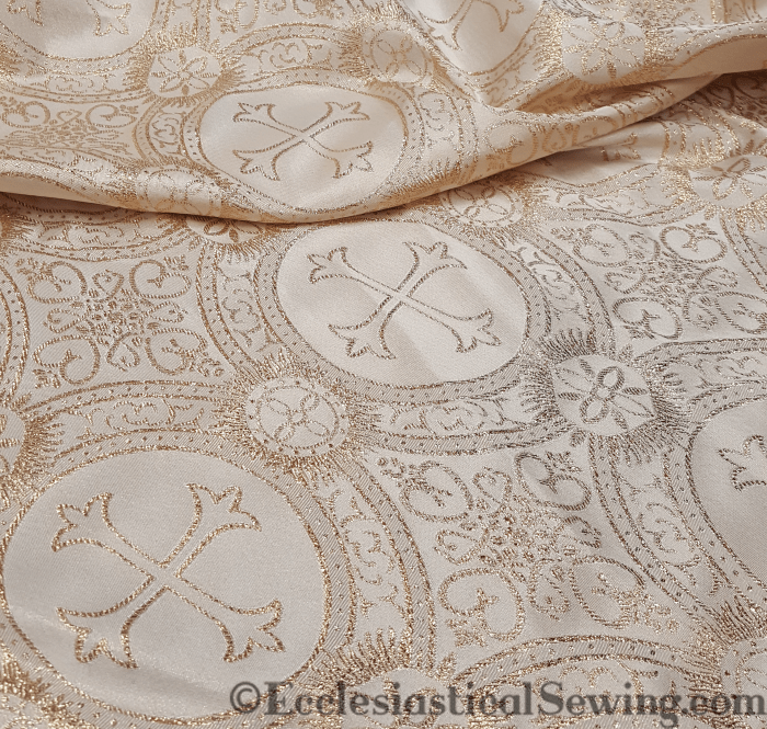 Chester Brocade Ecclesiastical Sewing Religious Fabric Litergical Brocade