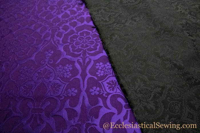 Liturgical Religious fabrics for Lent Church Vestments Violet Purple