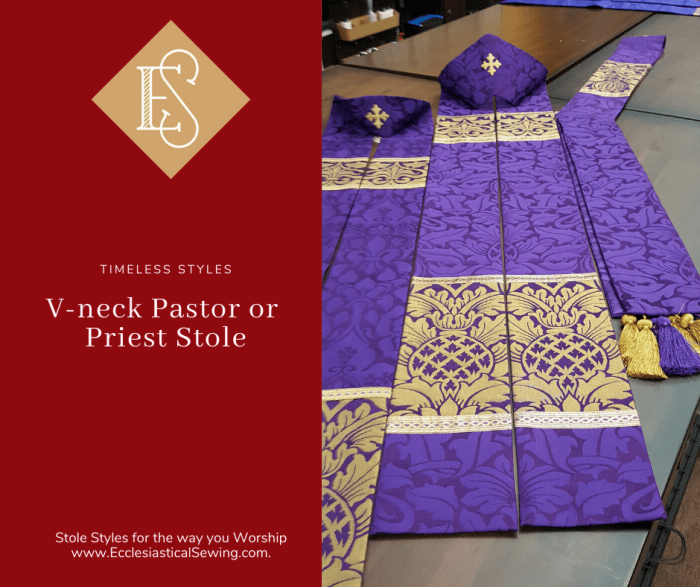 4 5 inch pastor or priest stole